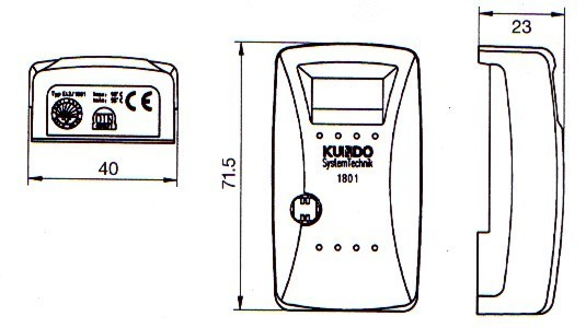 heizkostenverteiler kundo 1801 gebraucht mit oder ohne plombe. Black Bedroom Furniture Sets. Home Design Ideas