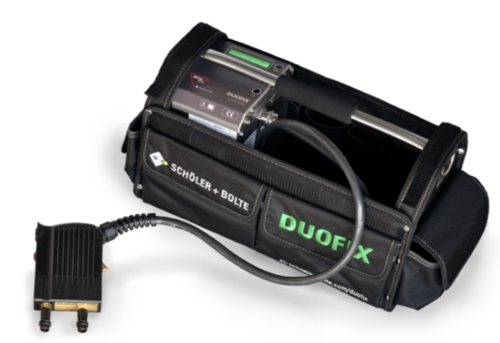 DUOFIX - battery-powered stud welding unit for mounting of heat cost allocators for 500 weldings