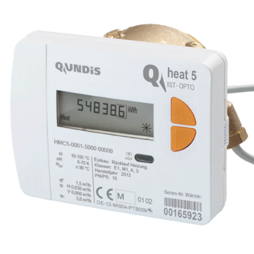 Heat Meter QUNDIS Qheat 5 IST Qn 0,6 1,5 and 2,5 Ø5,0mm