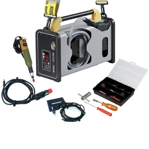 ACCU-TWIN 25-61 welding unit for mounting of heat cost allocators
