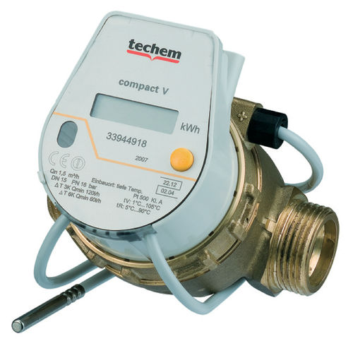 USED - heat meter TECHEM COMPACT V Qn 0,6 1,5 2,5