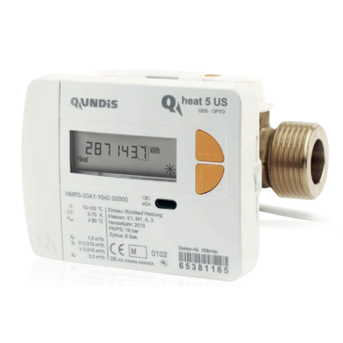 Ultraschall-Wärmezähler QUNDIS Qheat 5 US Qn 0,6 1,5 and 2,5 Ø5,2mm 2021