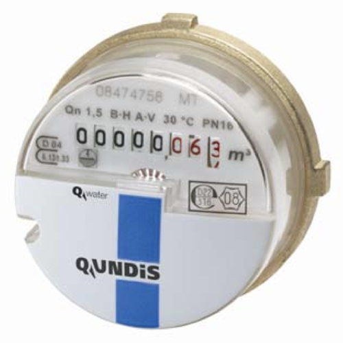 Qundis A34 AMS (allmess) M77x1,5mm capsule water meter, cold, hot