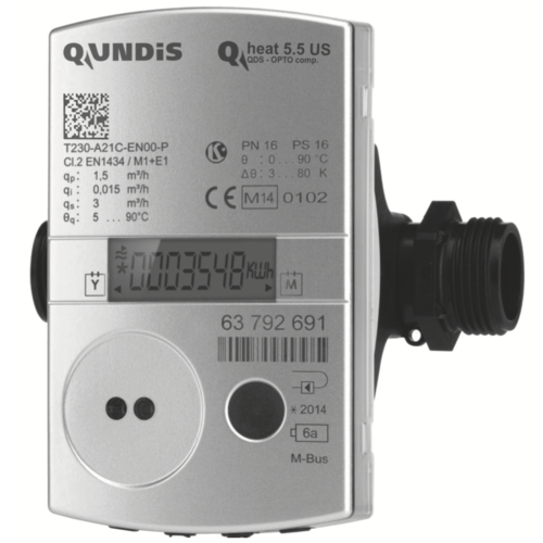 Ultrasonic heat meter Qundis Qheat 5.5 US comp. | Landis+Gyr UltraHeat T230 Qp 0,6 1,5 2,5 2019